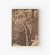 Historic Ruins, Rock Formation, Chaco Canyon, New Mexico Hardcover Journal