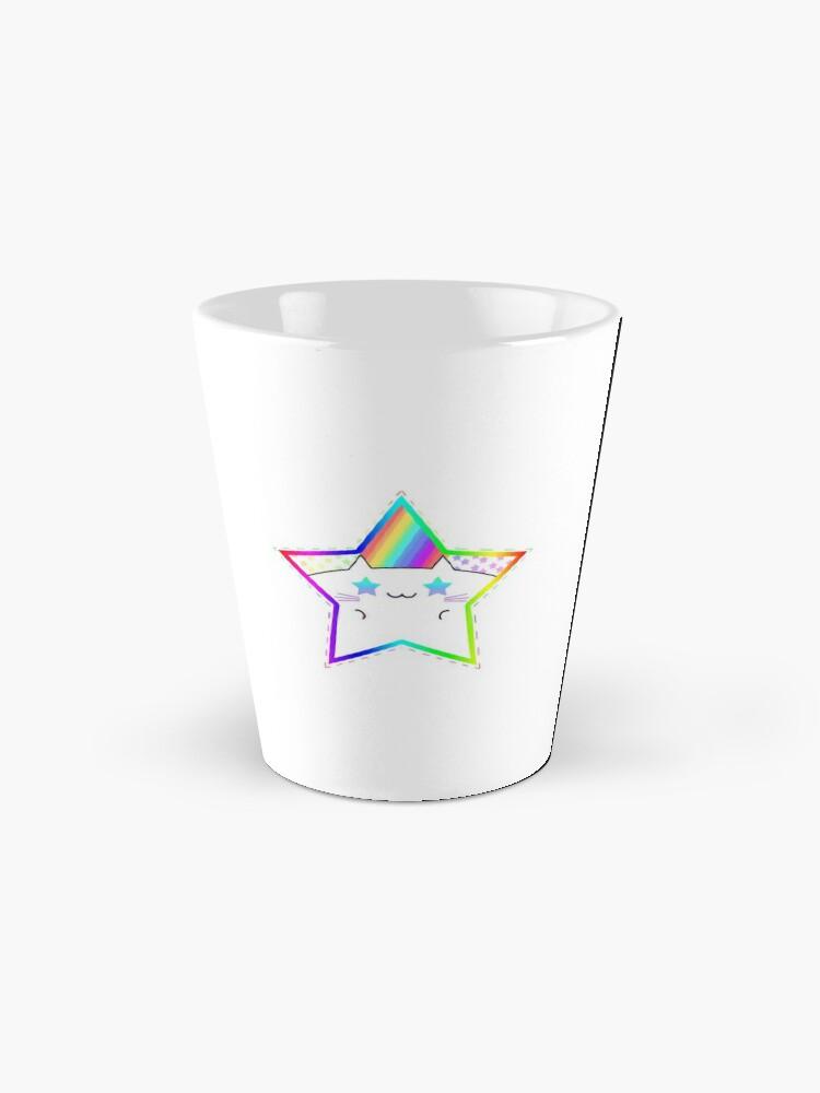 Alternate view of Rainbow Starry Kitty Mug