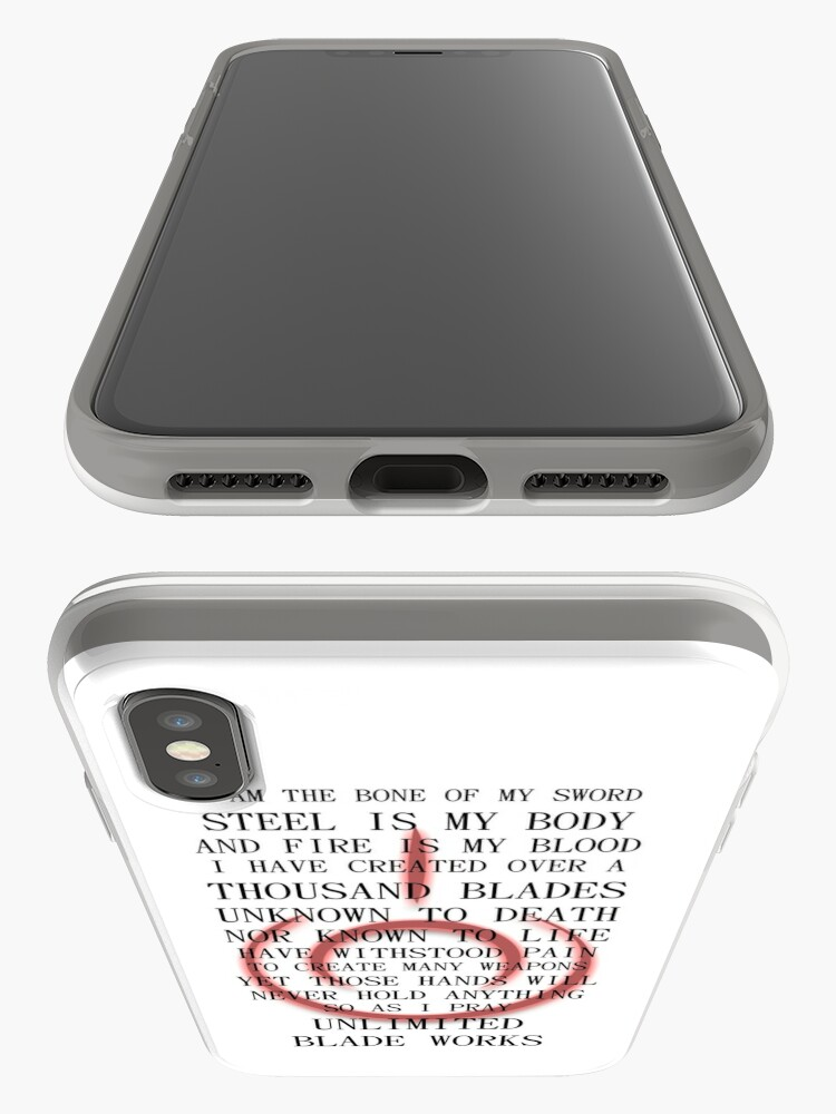 Alternate view of Fate Stay Night Unlimited Blade Works Archer And Shirou Quote With Command Seal iPhone Cases & Covers