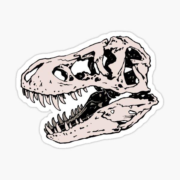 Geo-rex Vortex | Rose Quartz | Dinosaur Skull Fossil Art Sticker