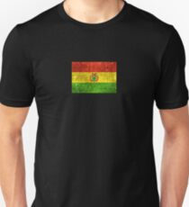 Vintage Aged and Scratched Bolivian Flag Unisex T-Shirt
