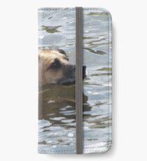 Dog Swimming in the Platte River, Denver, Colorado iPhone Wallet/Case/Skin