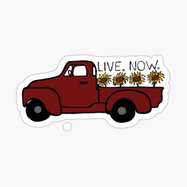 Flower Truck Sticker