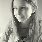 Olivia's Portrait in B&W by Evita
