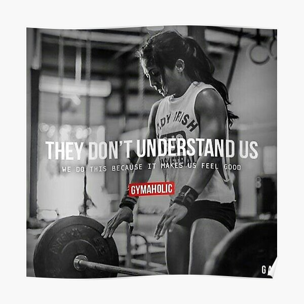 Bodybuilding Fitness Inspirational Quote And Saying Poster By Superfitstuff Redbubble
