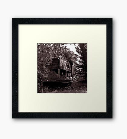 Boatshed, Sweden Framed Print