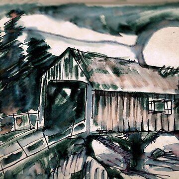 Covered Bridge Moon by sethweaver