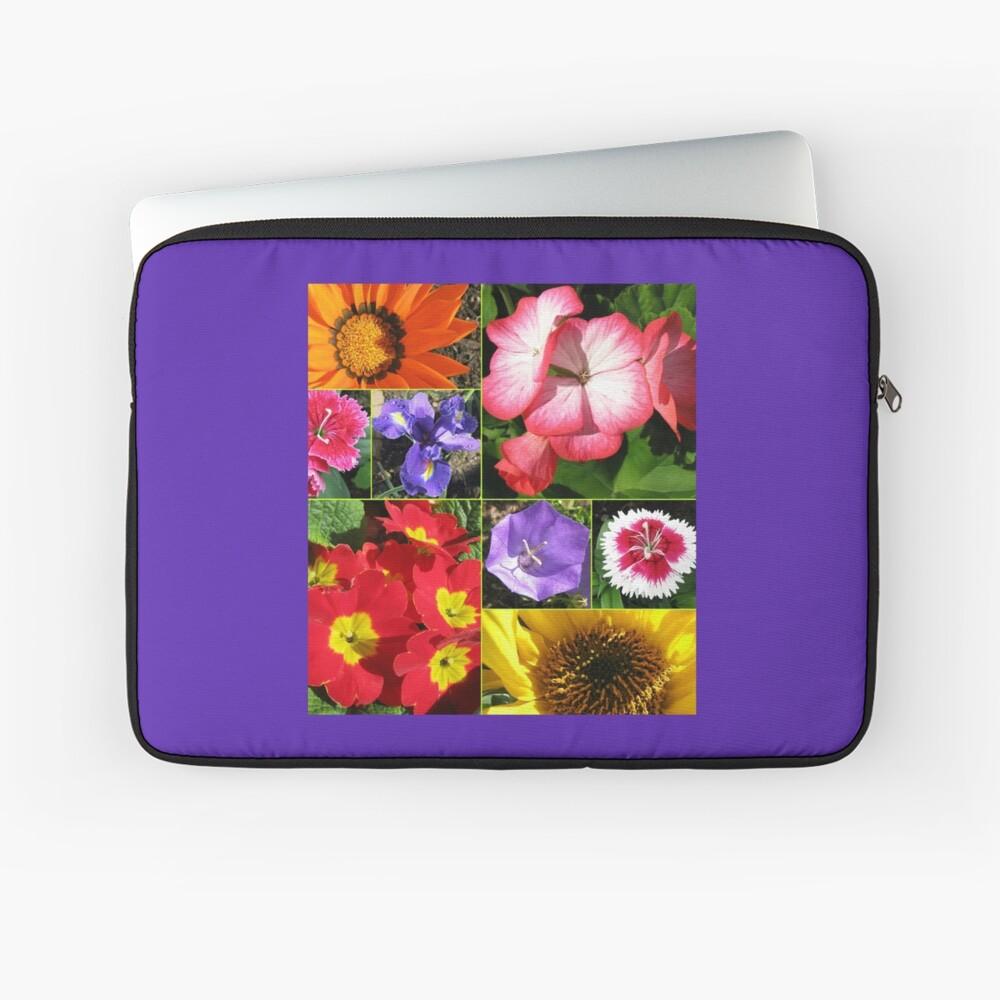 Sunkissed Blumen-Collage Laptoptasche