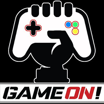 Game On! White outline - Fist & Controller by 108dragons