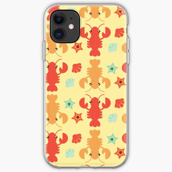 Lobster Pattern Art, Lobster Fun Art iPhone Soft Case