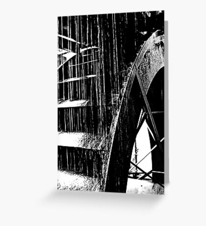 Water Wheel Greeting Card