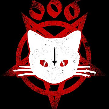666 Baphomet graffiti cat by Skady666