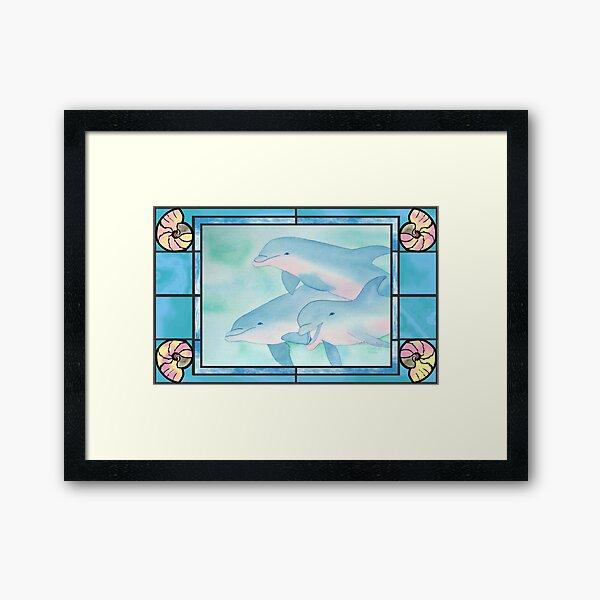 Dolphin Harmony Framed Art Print