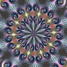 Pastel Abalone Shell Spiral Fractal Abstract Kaleidoscope Mandala k04 by Artist4God