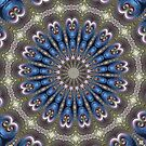 Pastel Abalone Shell Spiral Fractal Abstract Kaleidoscope Mandala k06 by Artist4God