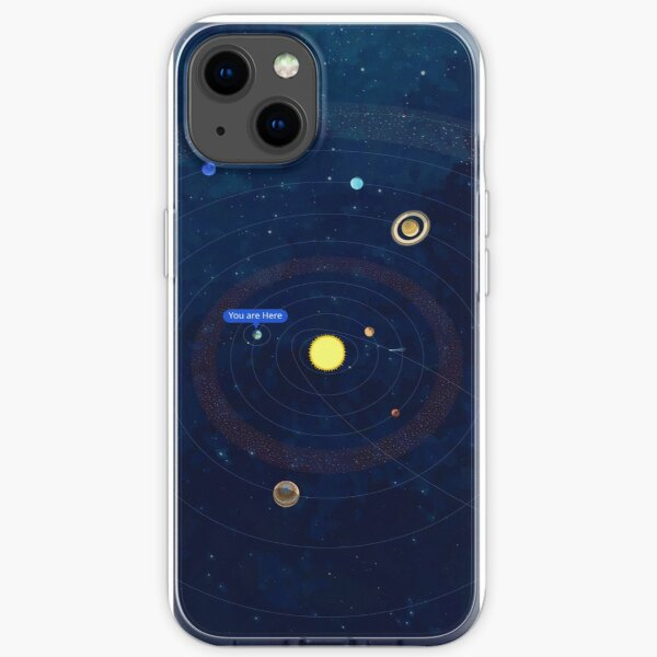 """Solar System """"You are Here"""" Phone Case iPhone Soft Case"""