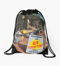 Strolling the streets of Guildford Drawstring Bag