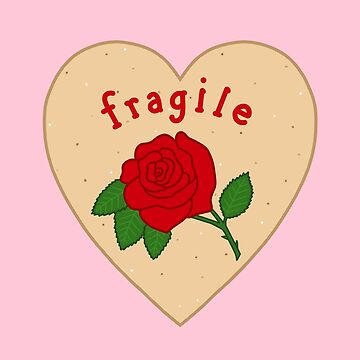 Fragile Mazapan Heart PINK by thelamehuman