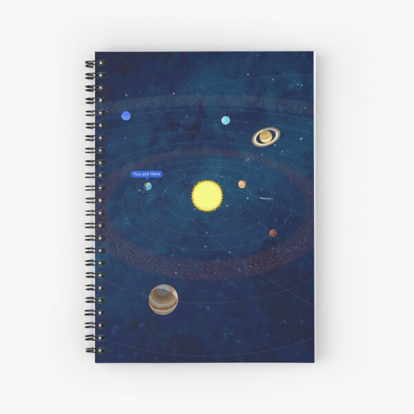 """Solar System """"You are Here"""" iPad Case or Notebook Spiral Notebook"""