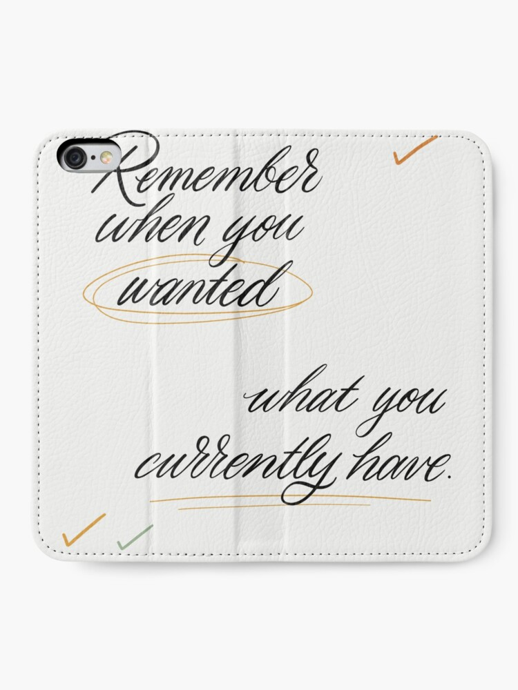 Alternate view of Remember When You Wanted iPhone Wallet