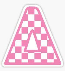 rosa kariertes Delta Sticker