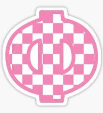 rosa kariertes Phi Sticker