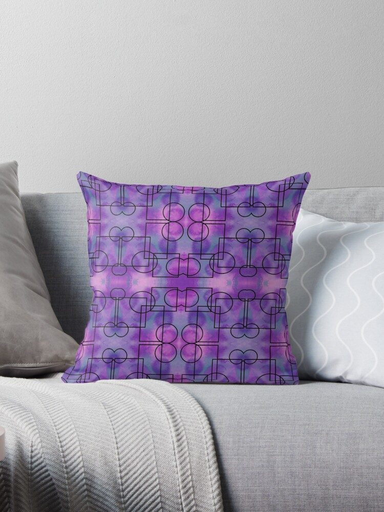 Circles Squares Abstract Art 72818 Throw Pillow By Mandalafractal