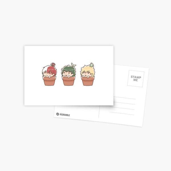 boys will be... plants? Postcard