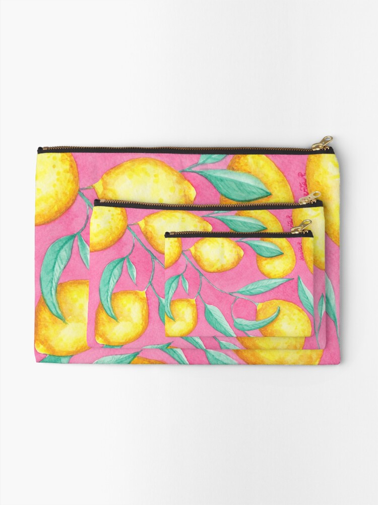 Alternate view of When life gives you lemon Zipper Pouch