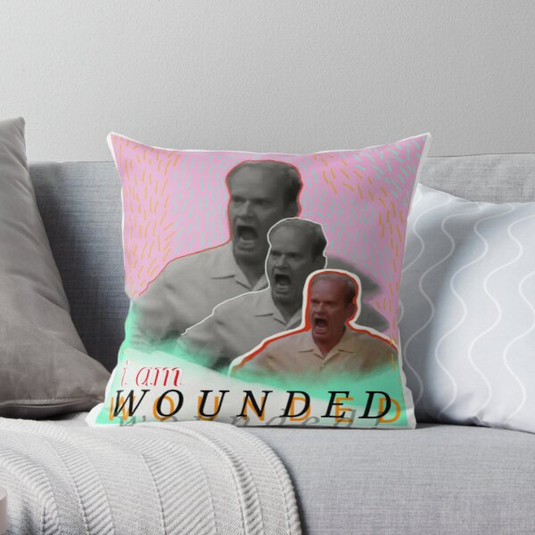 wounded frasier Throw Pillow