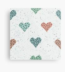 Cute Hearts  Metal Print