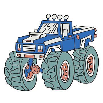 Blue Monster Truck Birthday Boy by Soulfire86