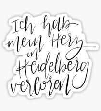 Ich hab mein Herz in Heidelberg verloren Sticker