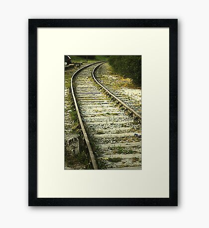 If you miss the train I'm on, you will know that I am gone...... Framed Print