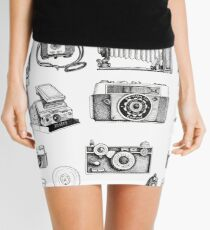 Vintage Camera Collection Mini Skirt
