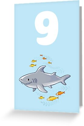 Underwater Sea Life Birthday Card For 9 Year Old By Tee Brain Creative