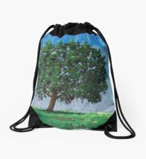The tree. Wiston House, West Sussex Drawstring Bag