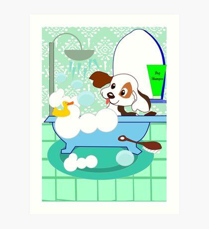 Rub-A-Dub Who is in the Bath tub (3701  Views) Art Print