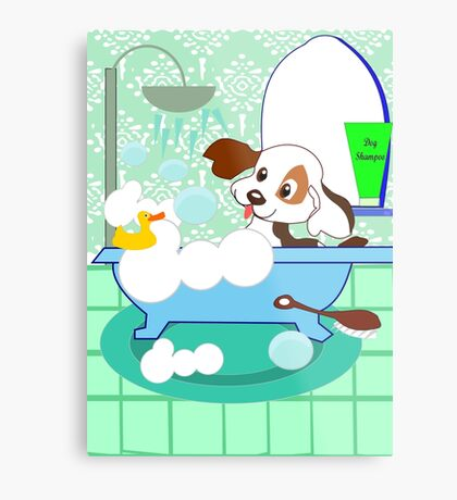 Rub-A-Dub Who is in the Bath tub (3701  Views) Metal Print