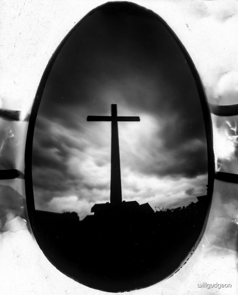 Crucifix, Photographed using a chocolate easter egg. by willgudgeon