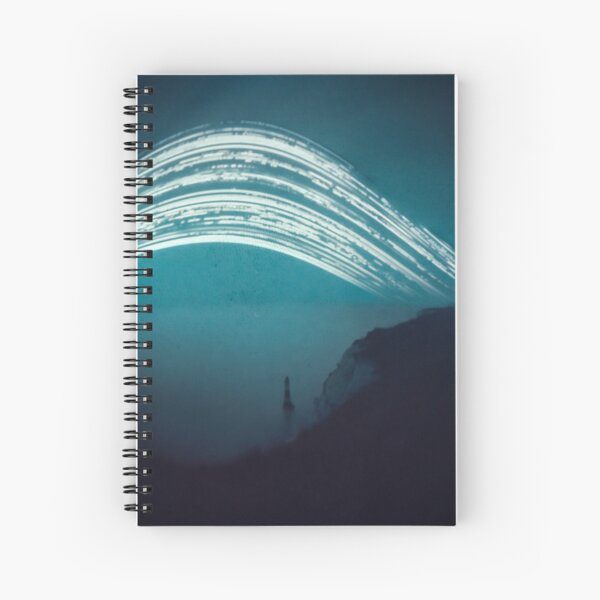 3 month exposure at Beachy head lighthouse UK Spiral Notebook