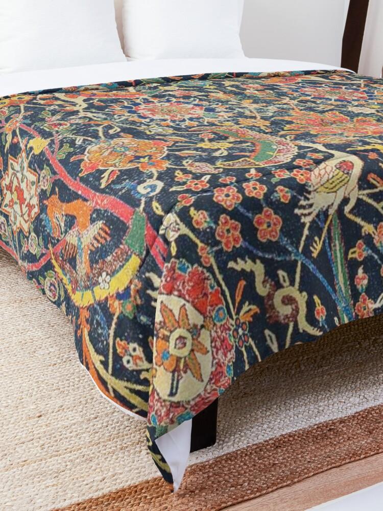 Alternate view of Kirman Vase Carpet Fragment Print Comforter
