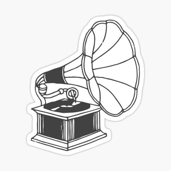 gramophone  Sticker