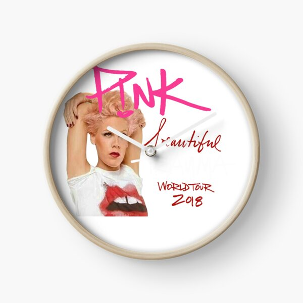 pink beautiful trauma ma Clock