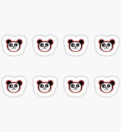 Happy Panda Baby Blue Sticker