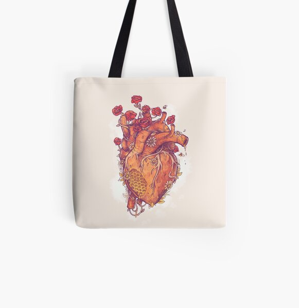Sweet Heart All Over Print Tote Bag
