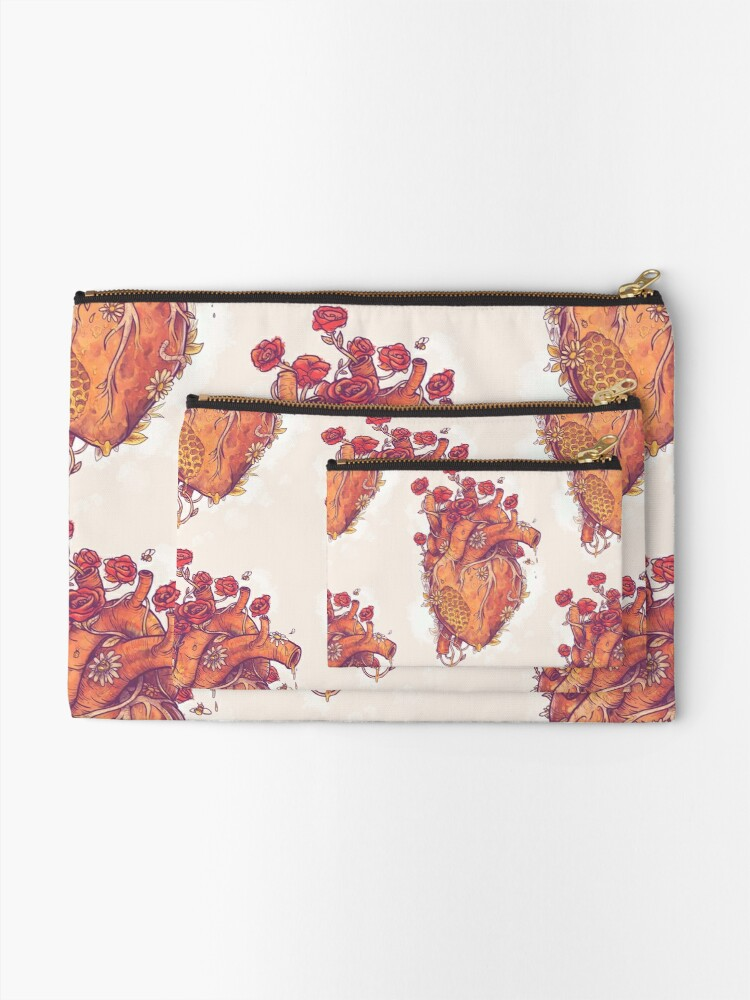 Alternate view of Sweet Heart Zipper Pouch