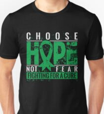 Choose Hope Not Fear Fighting for a Cure Kidney Disease T shirt Unisex T-Shirt