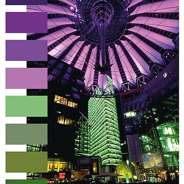 Cyberpunk Color Palette - Sony Berlin Center at Night by gregGgggg