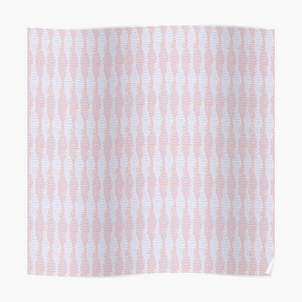Vertical spotted stripe on mauve/grey Poster